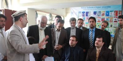 dr wardak mit hochschulminister dr oabid und finanzminister dr zakhilwall in Nanarhar Universität